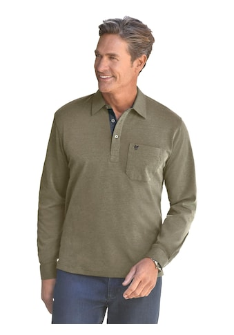 Classic Langarm - Shirt mit Polokragen kaufen