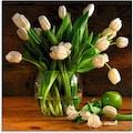 Artland Glasbild »Tulpen in Glasvase«, Blumen, (1 St.)