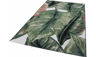 TOM TAILOR Teppich »Garden Leaf«, rechteckig, 3 mm Höhe, Flachgewebe, In- und Outdoor... kaufen