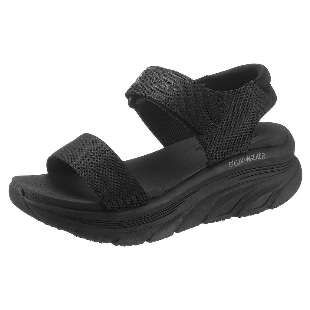 Skechers Plateausandale »D´LUX WALKER«, mit Luxe Foam