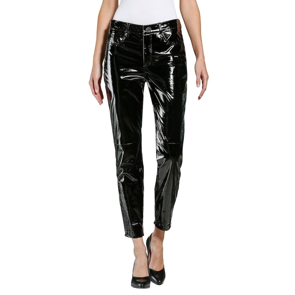 Alba Moda Lack-Lederhose in modischer Form