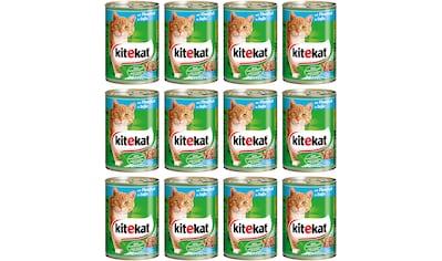 Kitekat Nassfutter »Rind in Sauce«, (Set, 12), für Katzen, 12 Dosen á 400 g kaufen