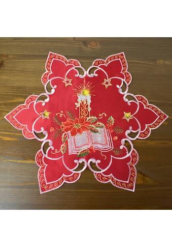 Delindo Lifestyle Platzset »Weihnachtsstern«, (2 St.), gesticktes Design, blickdichter... kaufen