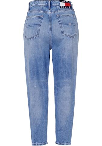 Tommy Jeans Mom-Jeans »Mom Jean UHR TPRD AE718 HYLBRD«, mit heavy Destroyed-Effekten &... kaufen