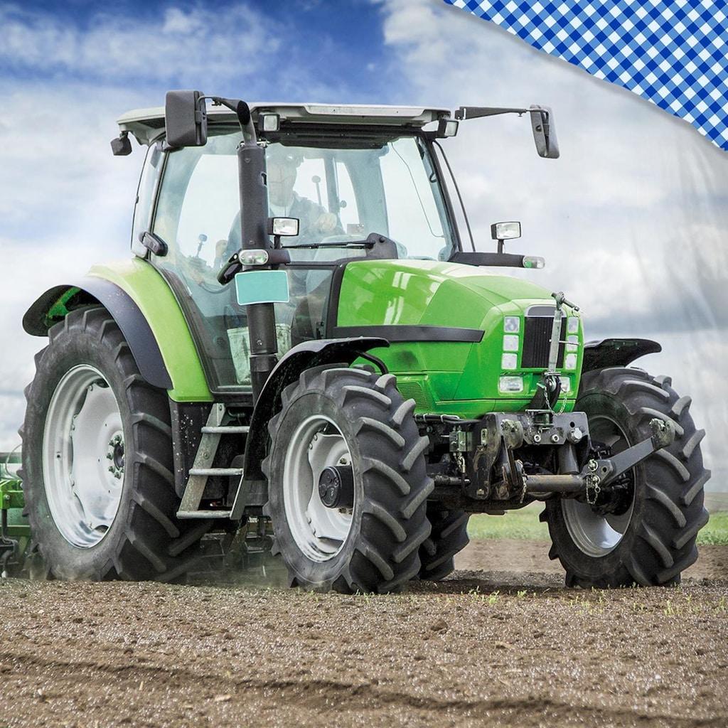 TRAUMSCHLAF Kinderbettwäsche »Traktor«, weiche Feinflanell Qualität