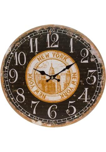 Myflair Möbel & Accessoires Wanduhr »New York« kaufen