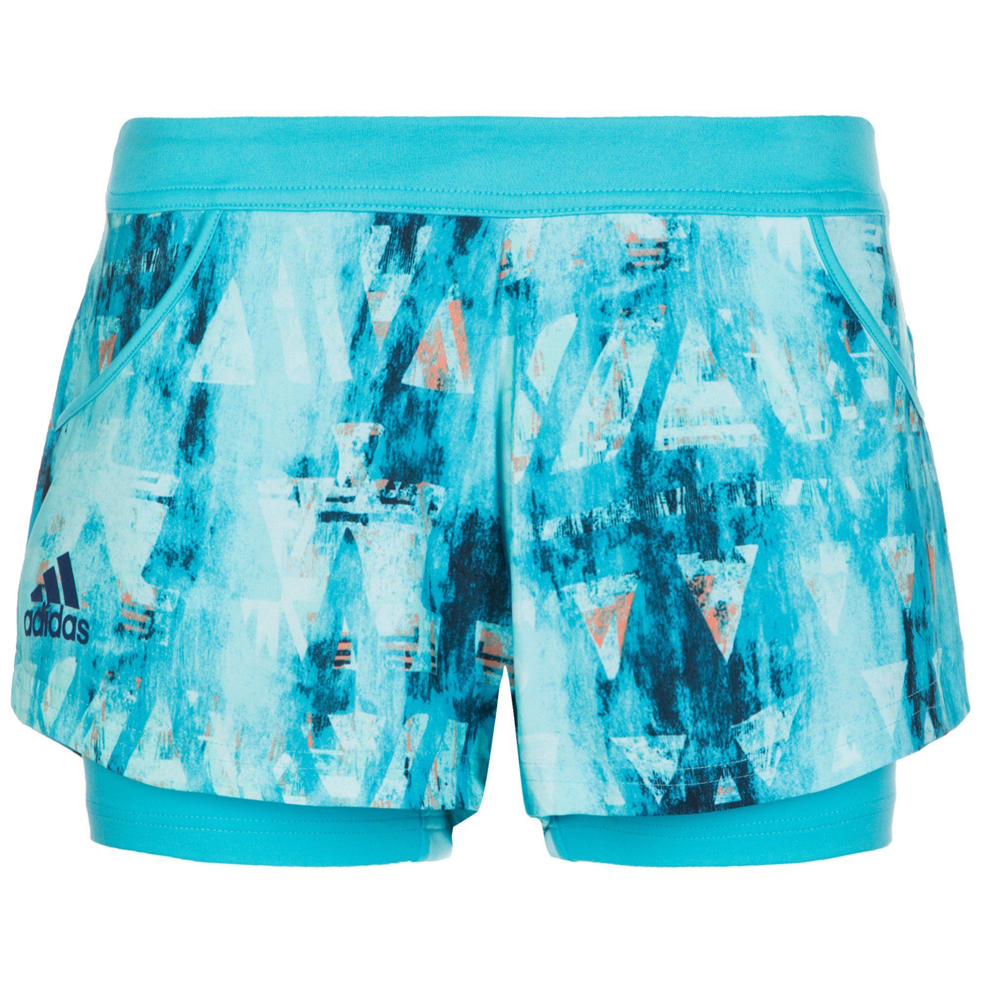 adidas Performance Melbourne Tennisshort Damen | Sportbekleidung > Sporthosen > Tennisshorts | Blau | Polyester - Elasthan | Adidas Performance