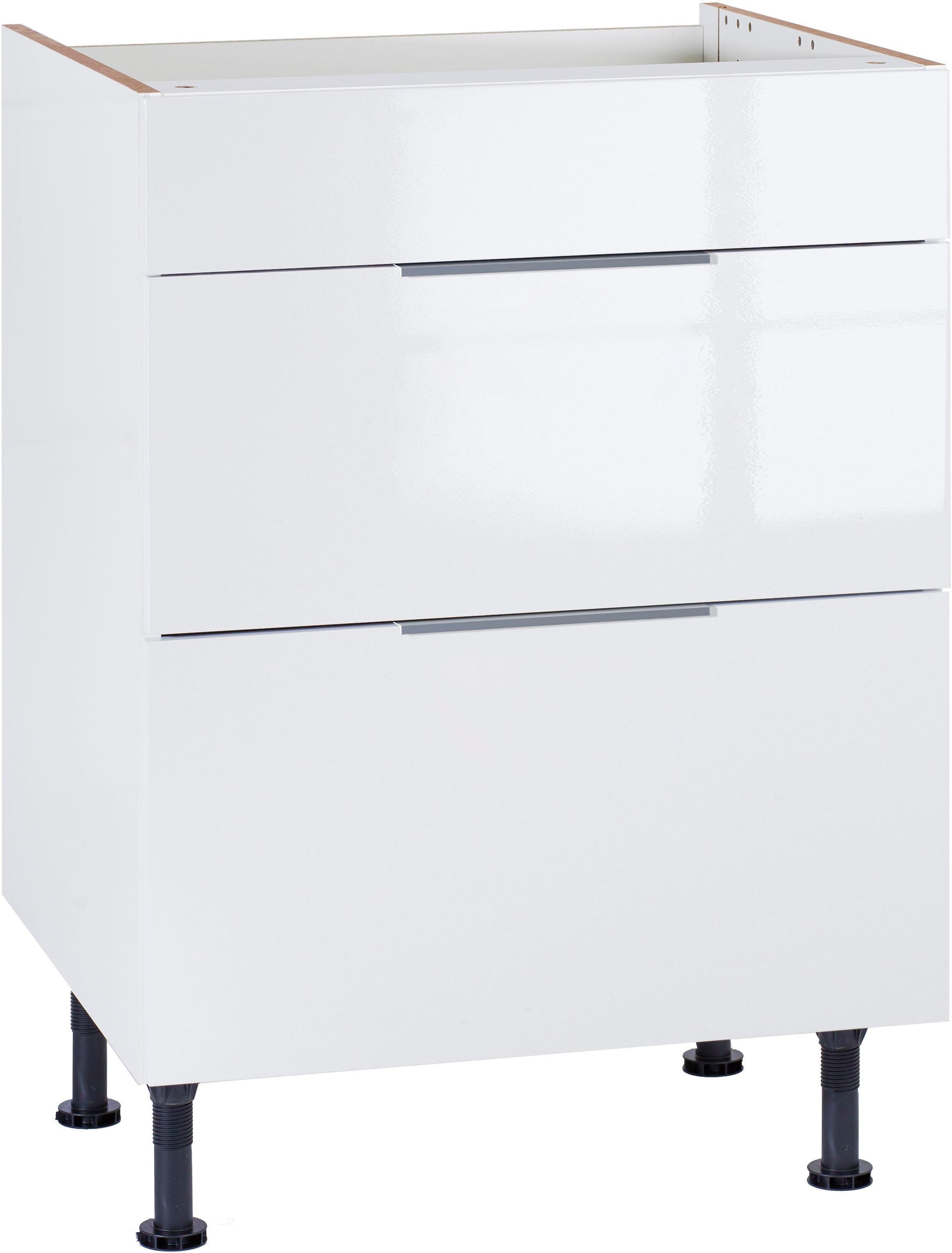 OPTIFIT Kochfeldumbauschrank Tara | Küche und Esszimmer > Küchenschränke > Umbauschränke | Weiß | Beton - Glänzend - Metall - Melamin | Optifit