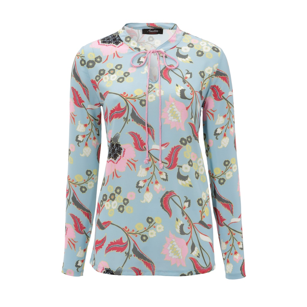 Aniston CASUAL Schlupfbluse, mit malerischem Blumendruck - NEUE KOLLEKTION