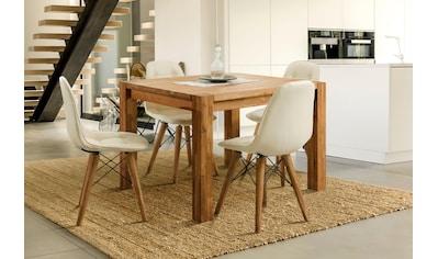 Home affaire Essgruppe »Tim«, (Set, 5 tlg.), bestehend aus 4 Stühlen und einem Esstisch, Esstischgröße 120 cm kaufen