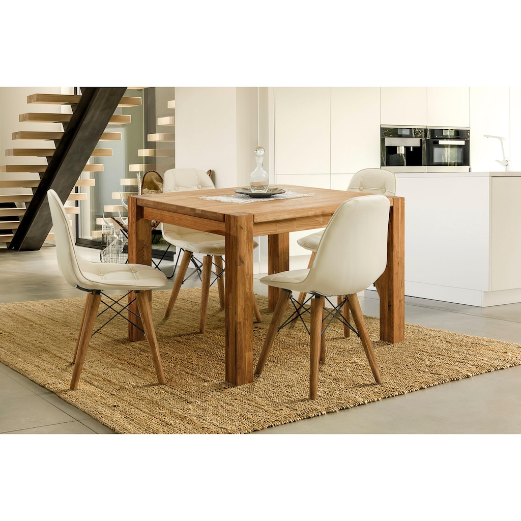 Home affaire Essgruppe »Tim«, (Set, 5 St.), bestehend aus 4 Stühlen und einem Esstisch, Esstischgröße 120 cm