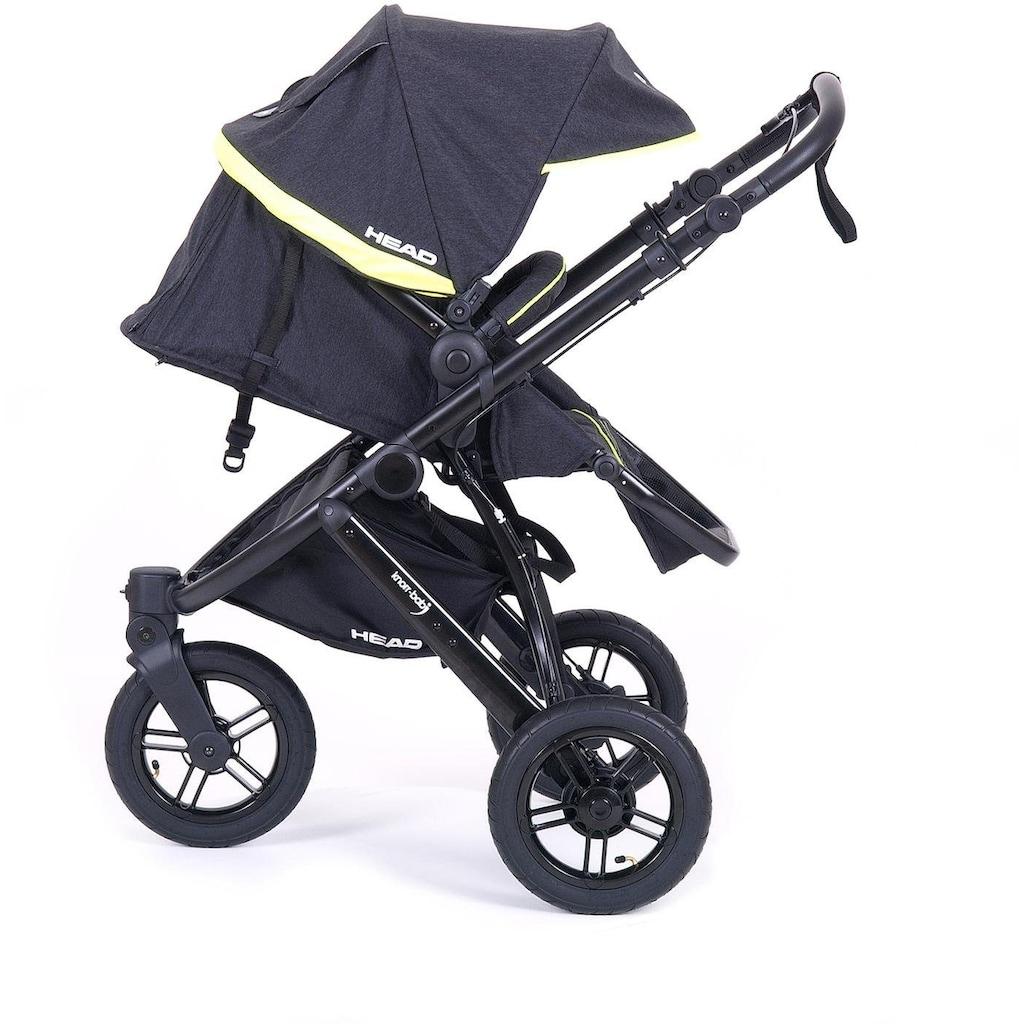 Knorrbaby Jogger-Kinderwagen »HeadSport 3, darkgrey-yellow«, Kinderwagen, Jogger, Dreiradwagen, Dreirad-Kinderwagen, Dreiradkinderwagen, Joggerkinderwagen
