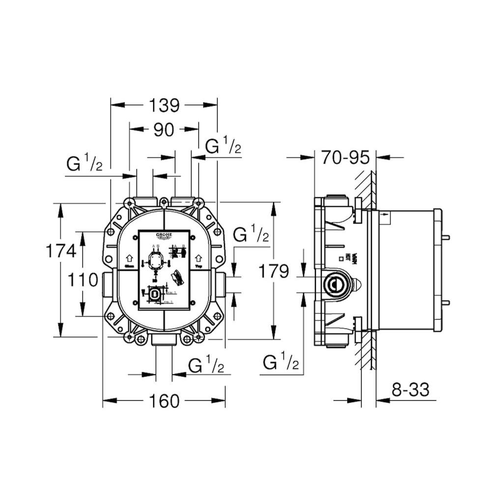 GROHE Thermostat »Rapido T«, für Grohtherm Special, Unterputz
