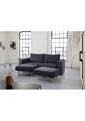 LOOKS by Wolfgang Joop 3-Sitzer, Verwandlungssofa: aus Sofa wird Sofa mit 2 Hockern kaufen
