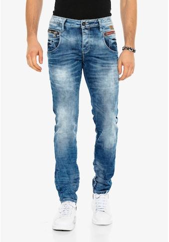 Cipo & Baxx Slim-fit-Jeans, in verwaschenem Design in Straight Fit kaufen