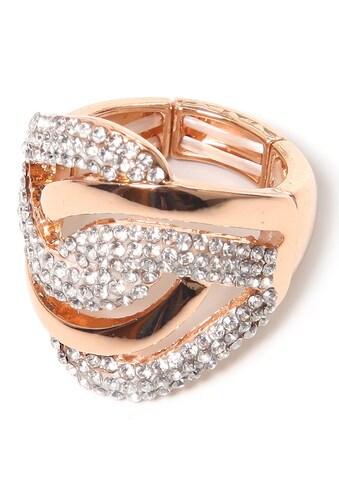 COLLEZIONE ALESSANDRO Fingerring »R2542-F119«, mit Glassteinen kaufen