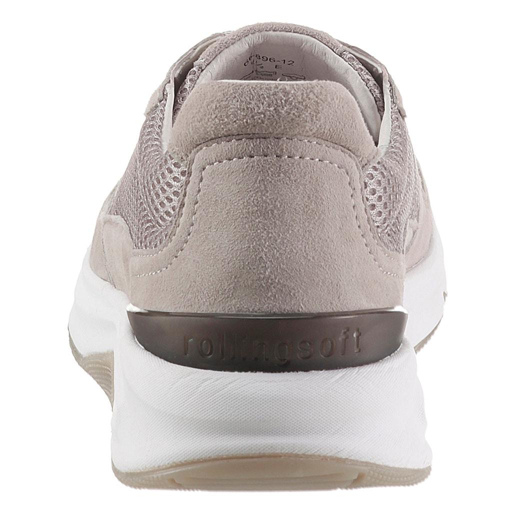 Gabor Rollingsoft Keilsneaker, im Materialmix