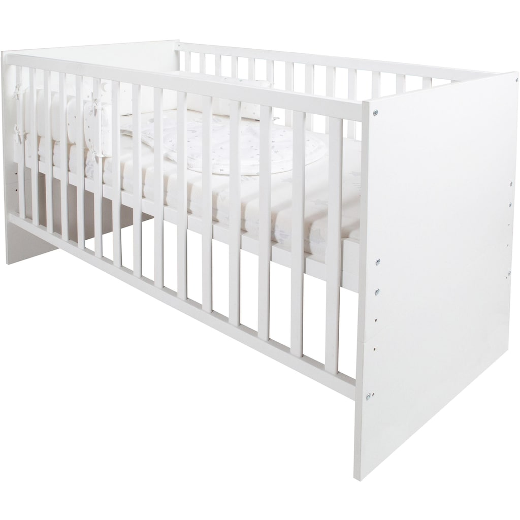 roba® Babybett »safe asleep® Sternenzauber«, inkl. Matratze, Nestchen und Schlafsack