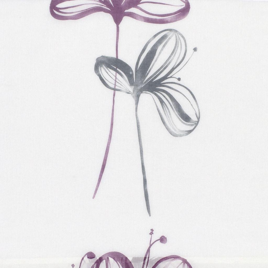 GARDINIA Schiebegardine »Flächenvorhang Stoff Flower mit silbernen Paneelwagen«, HxB: 245x60