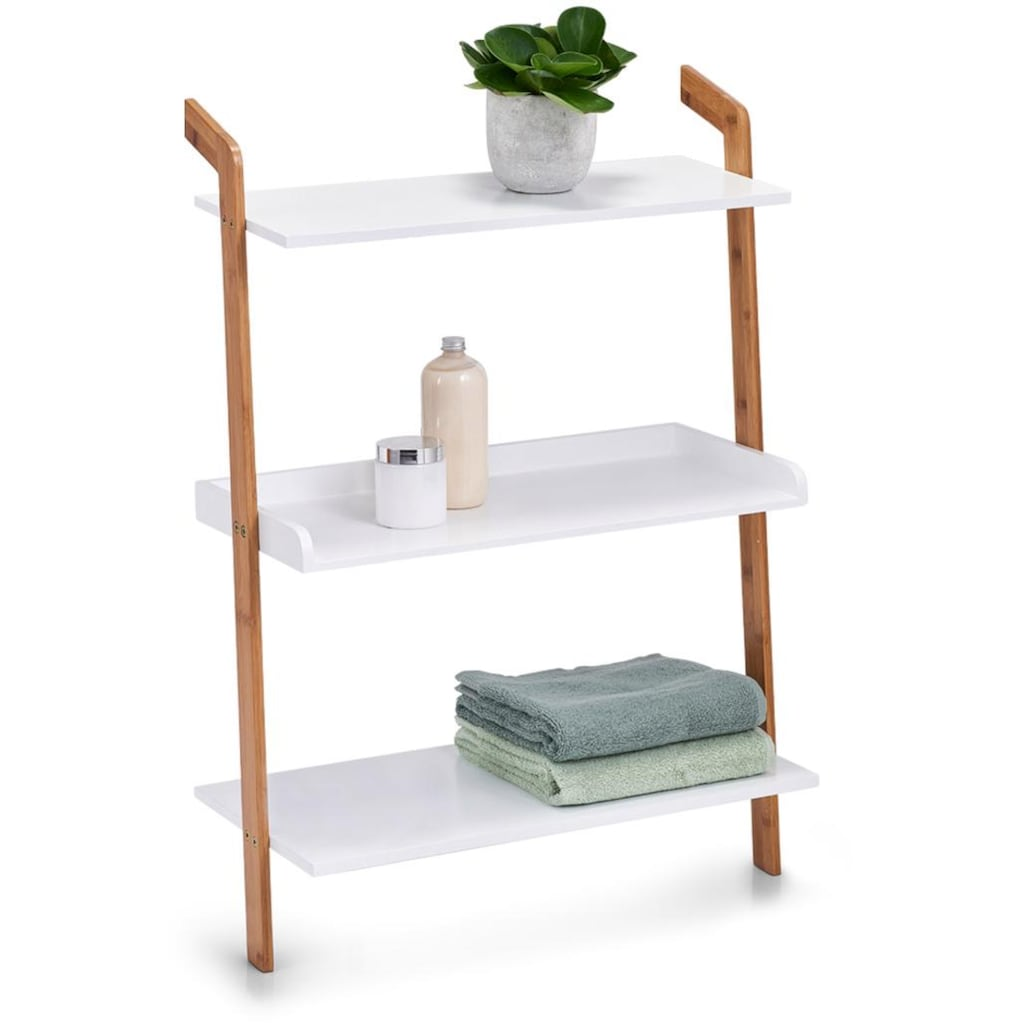 Zeller Present Leiterregal »Bamboo«, (Set, 5 St.), 3 Ablageflächen, je 60 x 30 cm