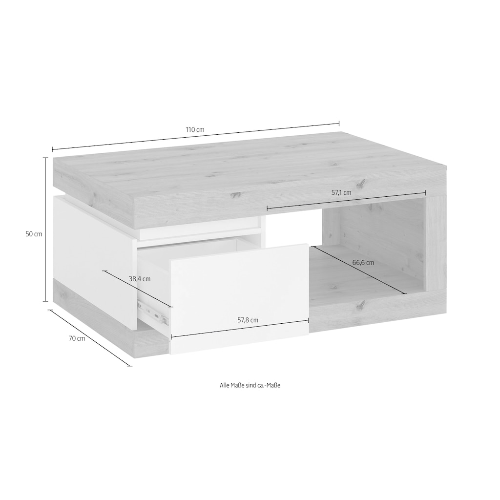 INOSIGN Couchtisch »Luci«, Breite 110 cm