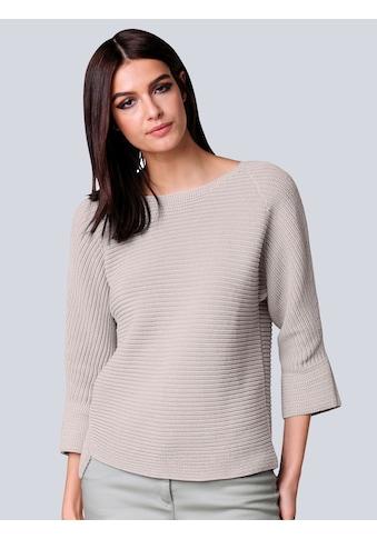 Alba Moda 3/4 Arm-Pullover, in Querrippe kaufen