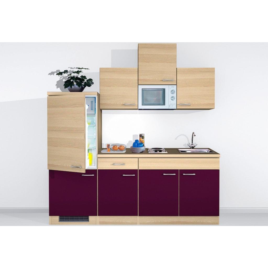 Flex-Well Küchenzeile, mit E-Geräten, Breite 210 cm