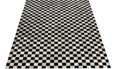 Lederteppich, »Beron«, Bruno Banani, rechteckig, Höhe 8 mm, handgewebt kaufen