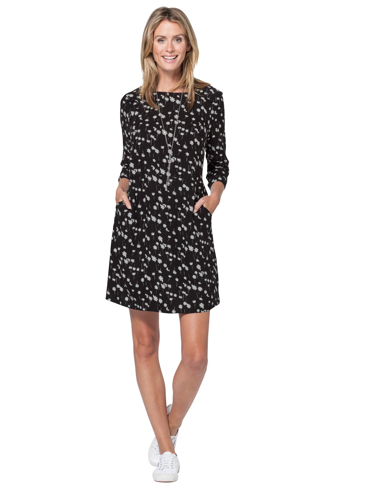 Ambria Kleid mit charmantem Druck-Dessin