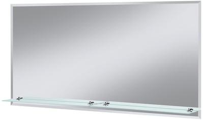 WELLTIME Badspiegel »Flex«, 120 x 60 cm, mit Glasablage und Facettenschliff kaufen