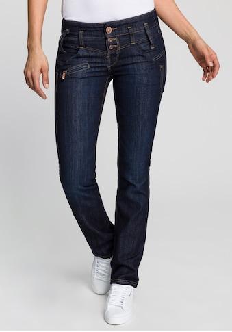 Freeman T. Porter Gerade Jeans »Amelie SDM«, doppelte Passe mit knack PO Effekt kaufen