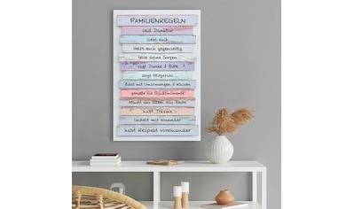 Reinders! Holzbild »Deco Panel 60x90 Familien Regeln« kaufen