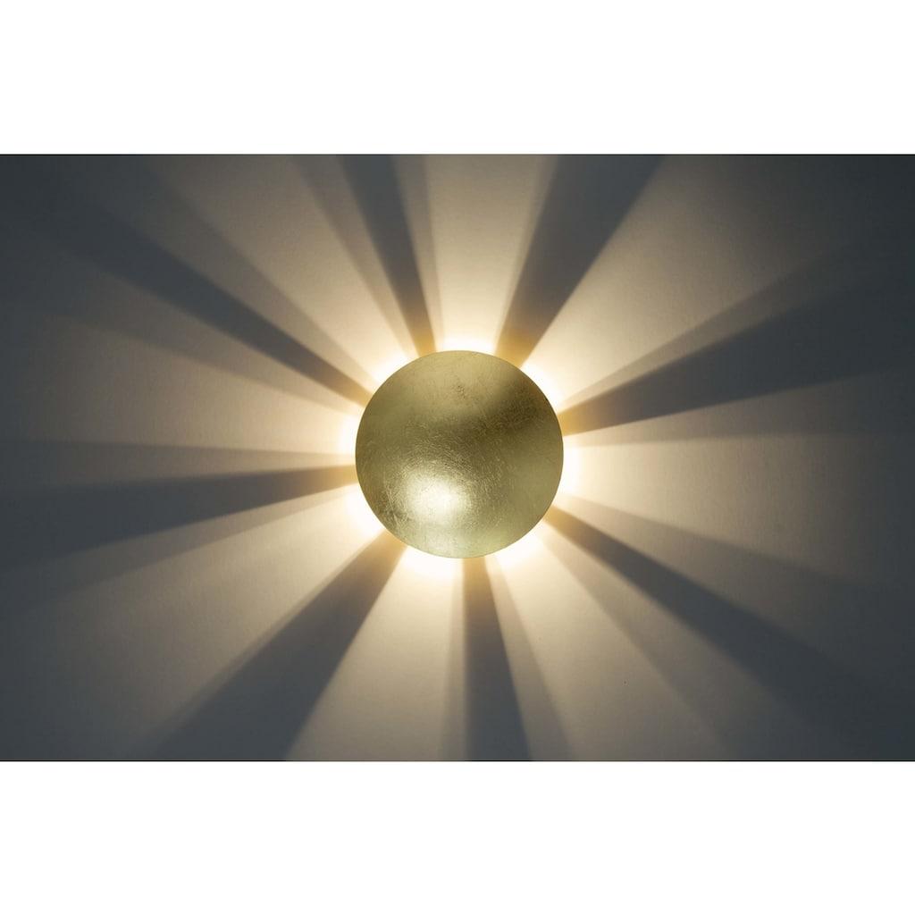 Brilliant Leuchten Sunset Wandleuchte gold-antik