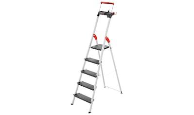 HAILO Stehleiter »L100«, 5 Stufen, max. Arbeitshöhe: 307 cm kaufen