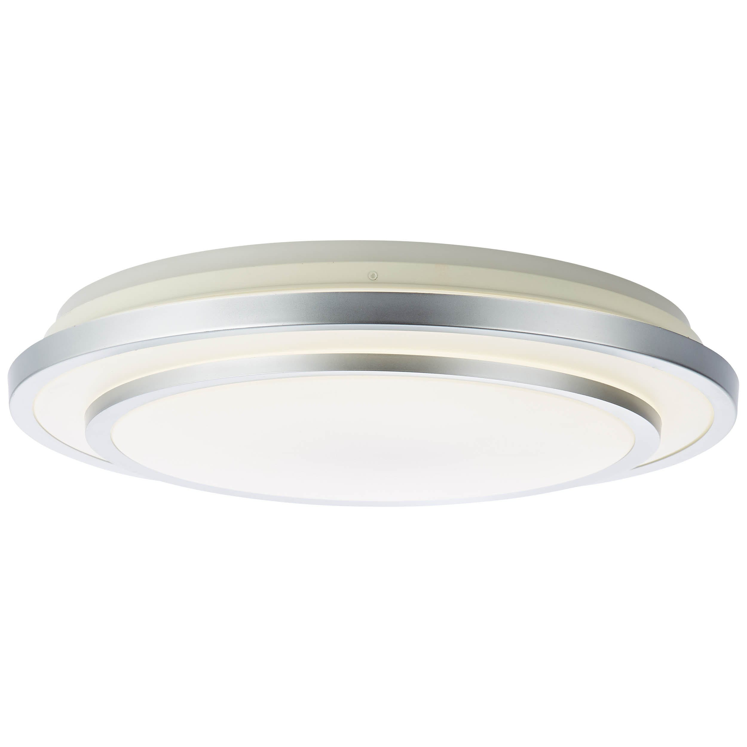 Brilliant Leuchten Vilma LED Deckenleuchte 52cm weiß-silber