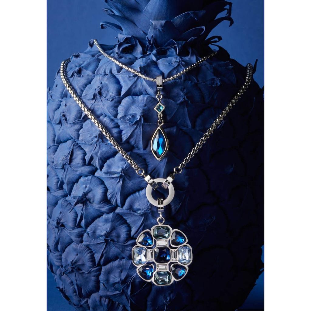 LEONARDO Charm-Einhänger »Blüte, Angelita Clip&Mix, 018477«, mit Glassteinen