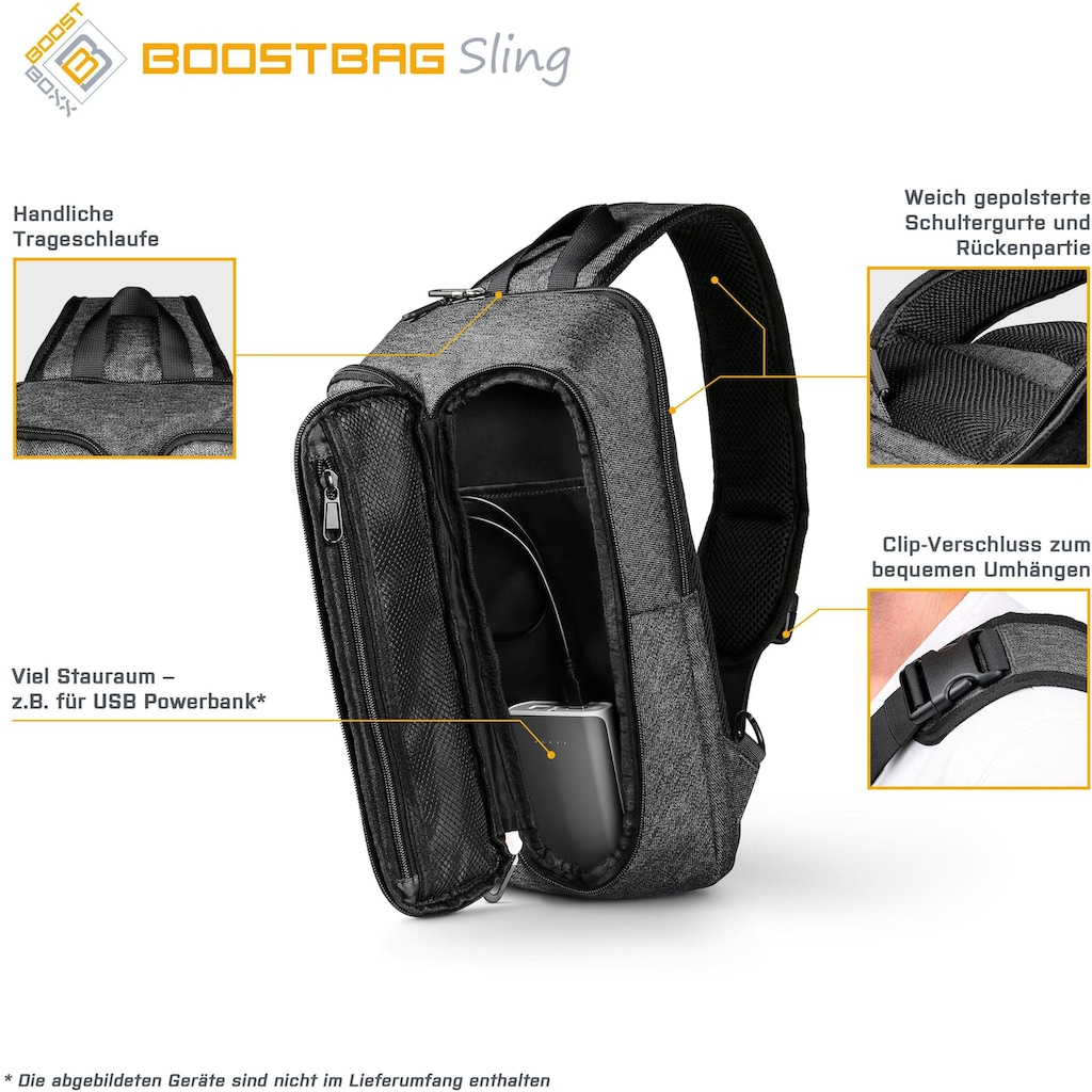BoostBoxx Umhängetasche »Boostbag Sling Crossbag«