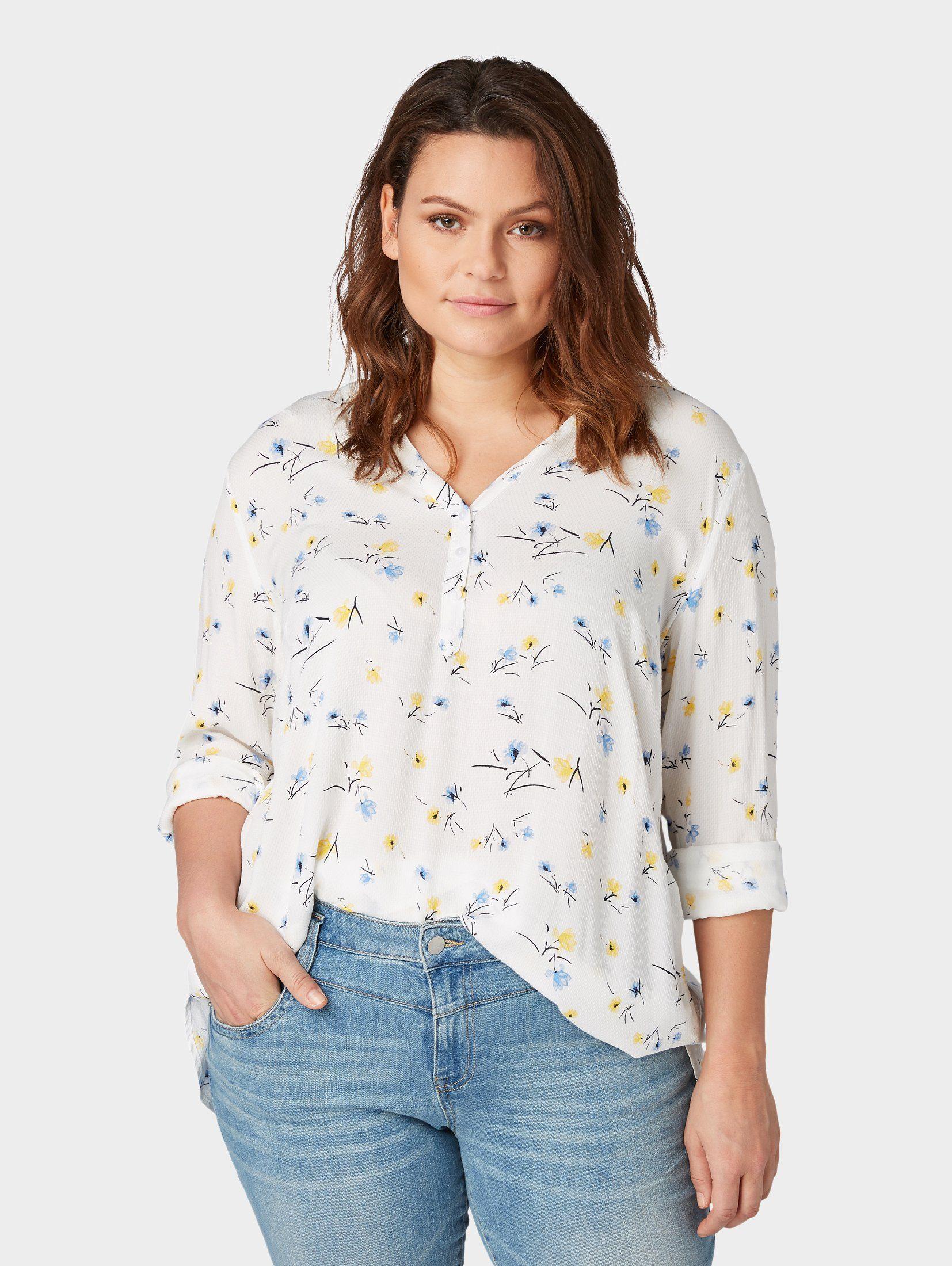 TOM TAILOR MY TRUE ME Shirtbluse Gemusterte Bluse