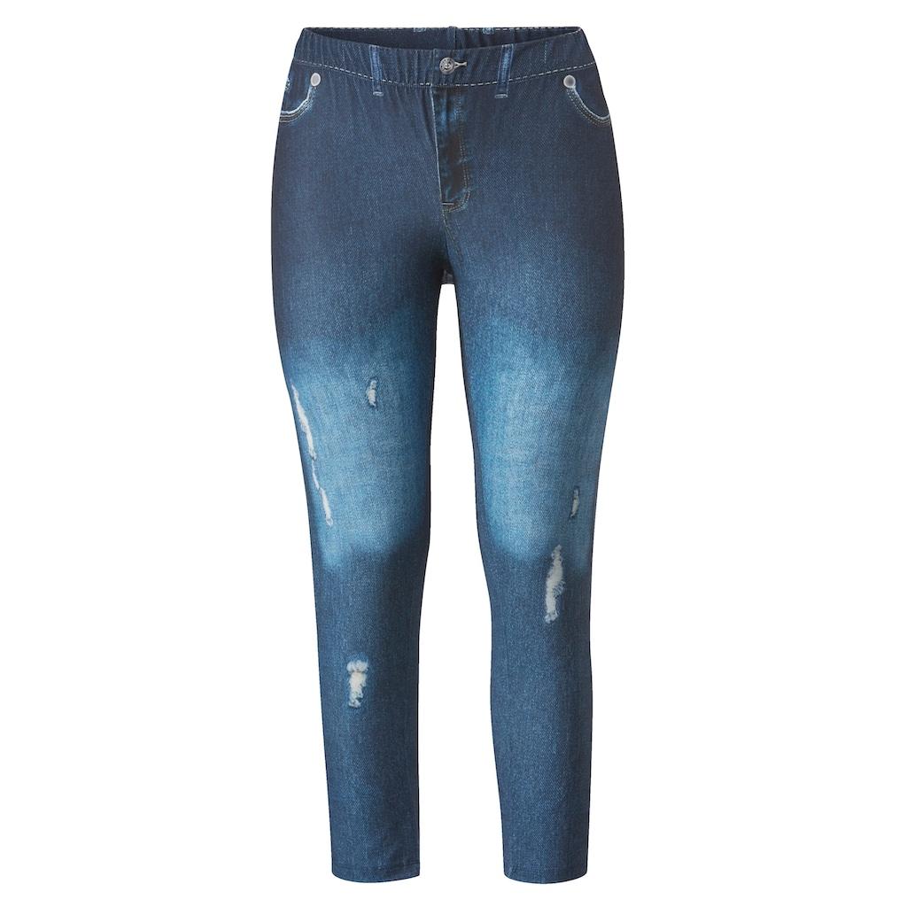 Angel of Style by HAPPYsize Leggings, in Jeans-Optik