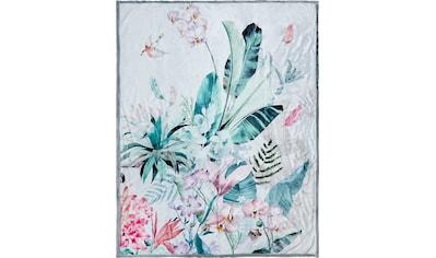 Descanso Plaid »Verdi«, mit Blüten kaufen