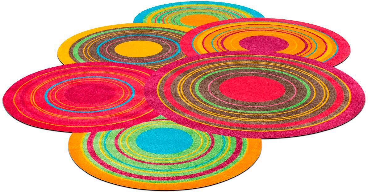 wash+dry by Kleen-Tex Teppich Cosmic Colours, stufenförmig, 9 mm Höhe, Wohnzimmer bunt Esszimmerteppiche Teppiche nach Räumen