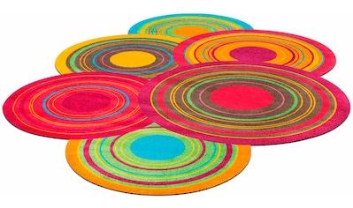 Teppich, »Cosmic Colours«, wash+dry by Kleen - Tex, stufenförmig, Höhe 9 mm, gedruckt kaufen