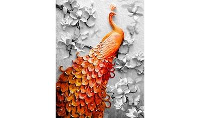 Consalnet Papiertapete »Pfau in Orange« kaufen