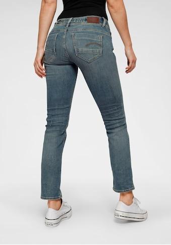 G-Star RAW Straight-Jeans »Midge Saddle Mid Straight«, in coolen Waschungen kaufen