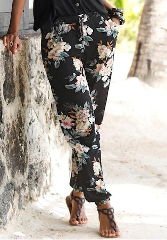 LASCANA Strandhose, mit Blumendruck kaufen