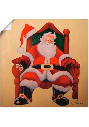Artland Wandbild »Schlafender Weihnachtsmann«, Weihnachten, (1 St.), in vielen Größen... kaufen