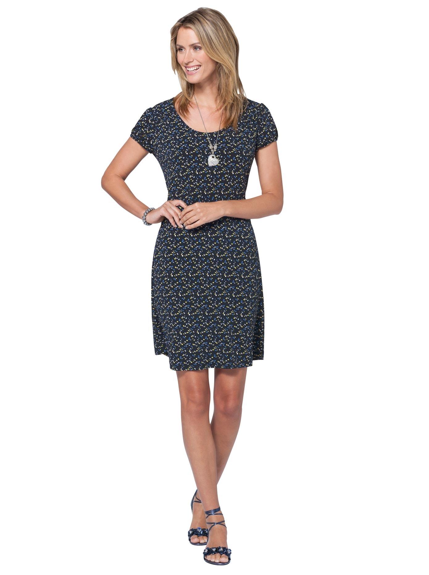 Ambria Jersey-Kleid im leicht ausgestelltem bequemen Schnitt