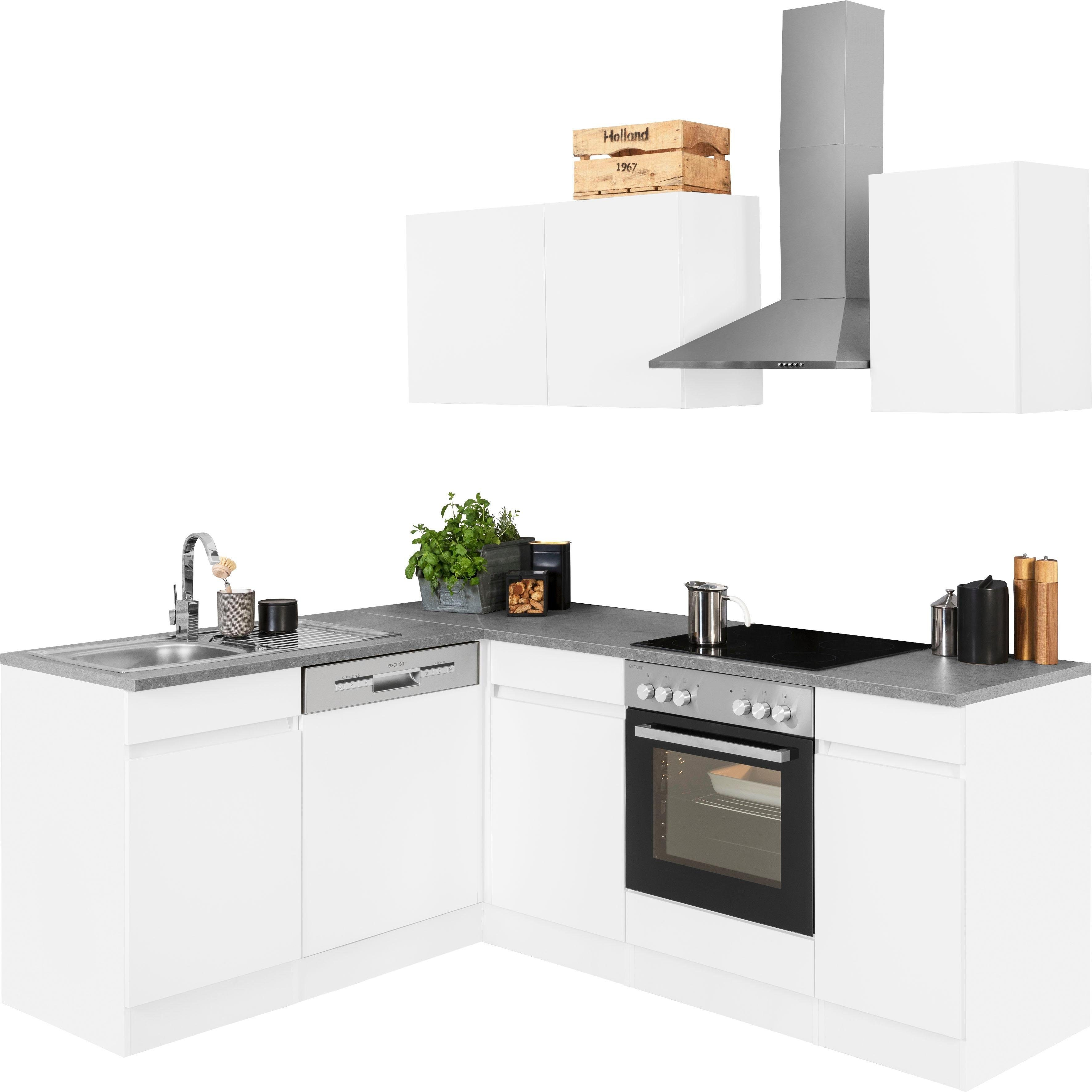 OPTIFIT Winkelküche Roth mit E-Geräten Stellbreite 210 x 175 cm