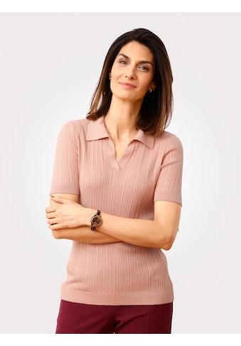 Mona V-Ausschnitt-Pullover, in Ajourstrick kaufen