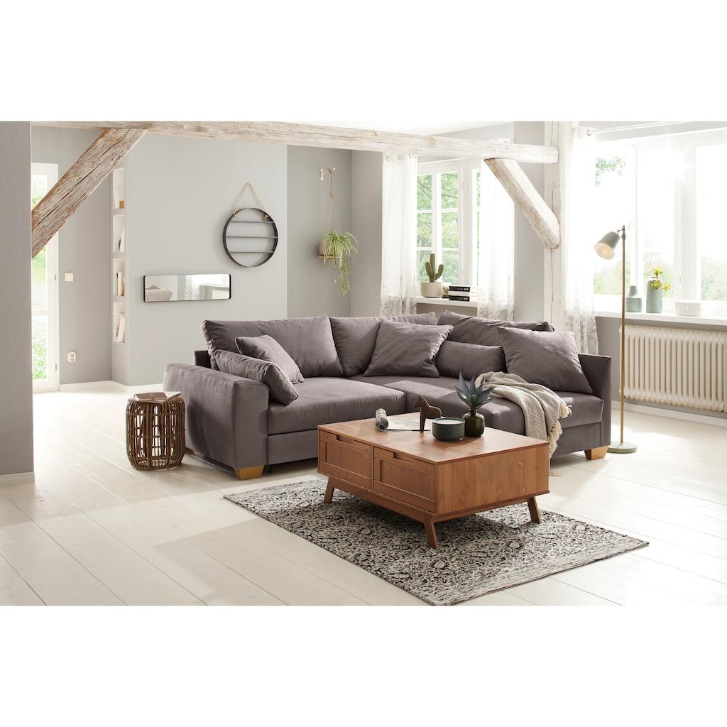 Home affaire Ecksofa »Helena Luxus«, mit besonders hochwertiger Polsterung für bis zu 140 kg pro Sitzfläche